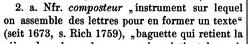 "FEW, 2: 986, Stichwort ""composteur""."