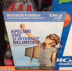 rumänische Werbung